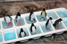 Ice Skating Penguin Small World - Sensory Play for Peuters & Kleuters - penguins Science For Toddlers, Winter Activities For Kids, Winter Crafts For Kids, Winter Fun, Sensory Activities, Infant Activities, Sensory Play, Play Activity, Toddler Fun