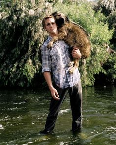 He's super into his dog | Be More Like Ryan Gosling: A Comprehensive Guide