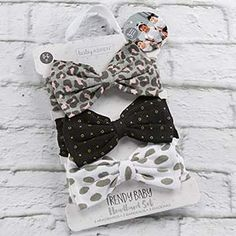 Baby headband bow polka dots leopard trendy style ootd outfit clothes cute girl toddler daughter