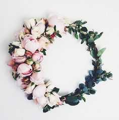 Beautiful floral wreath from Flower Girl Los Angeles via Lauren Conrad