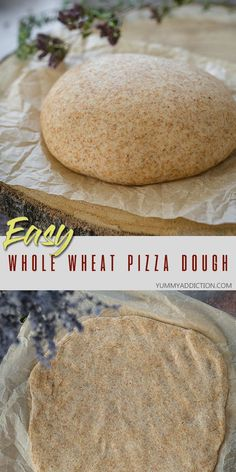 This whole wheat pizza dough is a healthier version of the blog's favorite homemade pizza crust. Just try it and see how easy it is to make you own pizza from scratch – just the way you like it! #pizza #wholewheat #pizzadough #easy Healthy Pizza Dough, Freeze Pizza Dough, Wheat Pizza Dough Recipe, Artisan Pizza, Artisan Bread, Vegan Pizza, Pizza Pizza, Vegan Food, Pizza Recipes