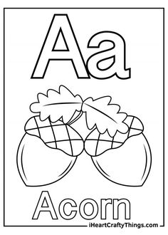 Letter A Coloring Pages, Coloring Sheets, Love Craft, Our Love, Animal Drawings, Fun Activities, Crafty, Lettering, Heart