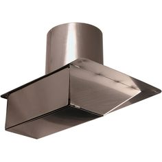 """Under eave dryer and exhaust vent cap is great for soffit installations.  Made of stainless steel, copper, and hammered copper.  Available in 4"""" and 6"""" sizes.  One way flapper allows air out while keeping the elements from coming in."""