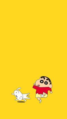 Ideas Kawaii Wallpaper Pastel Yellow For 2019 Sinchan Wallpaper, Cartoon Wallpaper Iphone, Cute Disney Wallpaper, Kawaii Wallpaper, Cute Cartoon Wallpapers, Sinchan Cartoon, Anime One Piece, Doraemon Wallpapers, Crayon Shin Chan