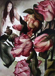 Kunst Art Aigner Maler Linz Blumen Rosen Acryl