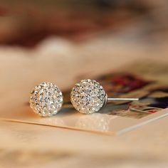 OL Fashion Style Earings 925 Pure Silver Korean Stud Earring Female Trendy Elegant Sweet Small Earrings