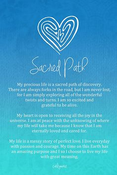 Affirmation - Sacred Path by CarlyMarie