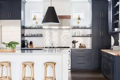 Black and White Kitchen Kitchen Contemporary TraditionalNeoclassical Transitional by Jason Arnold Interiors