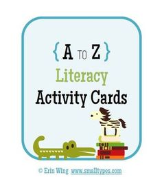 This free set of mini-cards includes 26 fun activities to build reading, writing & communication skills.
