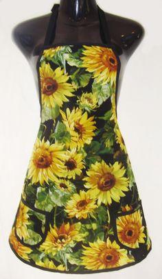 Beautiful sunflower apron.