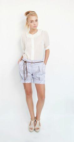 Beautiful! Silk blouse in ivory by ElenaVUSA on Etsy, 250.00