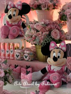 Minnie Mouse Baby Shower, Mickey Mouse, Mini Mousse, Decoration, 3rd Birthday, Little Girls, Alice, Toys, Disney