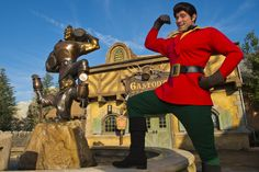 In Front of Gaston's Tavern in New Fantasyland at Magic Kingdom Park