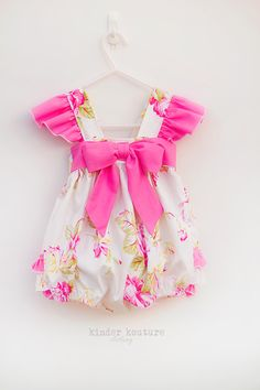 Creamy Vintage Rose Baby Bubble - Kinder Kouture