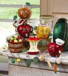 apple decorations for kitchen | Apple Decor Kitchen Sitters Figurines By Collections Etc #PinAtoZ