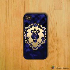 World of Warcraft Alliance iPhone case by EllenKaydesign on Etsy, $18.00