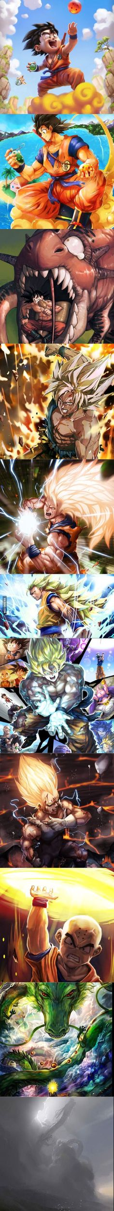 Beautiful DBZ artwork. Upvote for more! - Visit now for 3D Dragon Ball Z compression shirts now on sale! #dragonball #dbz #dragonballsuper