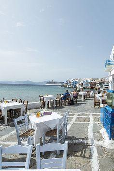 Lunch time in Mykonos ~ Greece
