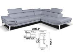 Italian Sectional Sofa Amadeus by Seduta D'Arte