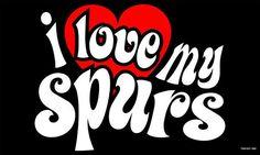San Antonio Spurs: I Love My Spurs Girl Cute Pattern Flag; 3'x5'