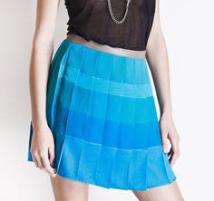 Christine Phung SS2013 Ami Blue Skirt #ModeWalk #luxury #fashion #ChristinePhung #skirt