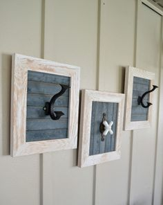 Decorative hooks come in all shapes, colors and sizes. Click over and see how easy it is to make your own custom decorative hooks for any space in your home.