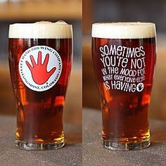 All of Left Hand beers come with a glass recommendation on the label! Pour these tasty ales in a pub style glass: Sawtooth Ale, 400 Pound Monkey IPA, Black Jack Porter, Good Juju, Milk Stout, Milk Stout Nitro, Stranger Pale Ale, and Warrior IPA!