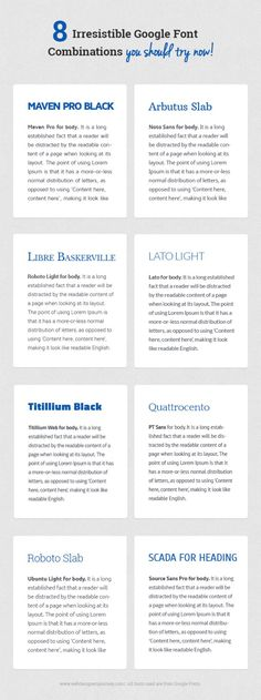 8 Irresistible Google Font Combinations You Should Try Now
