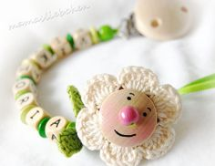 Pacifier clip chain / Dummy holder keeper by mamasliebchen on Etsy, $14.90