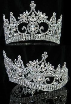 Continental adjustable Contoured Rhinestone Crown Tiara – CrownDesigners