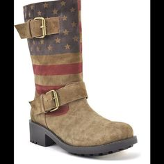 Vintage American Flag combat boots Worn once!!! Great condition!! Sbicca Shoes Combat & Moto Boots