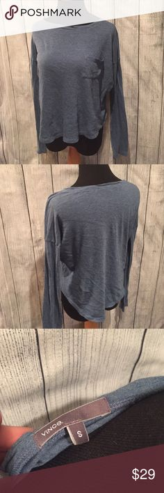 🔖Vince Casual Long Sleeve Top Soft and loose fitting shirt with front pocket Vince Tops Tees - Long Sleeve