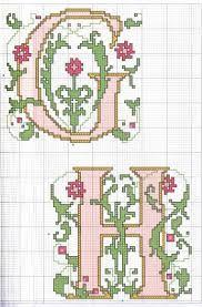 Resultado de imagem para monogramas ponto cruz para imprimir
