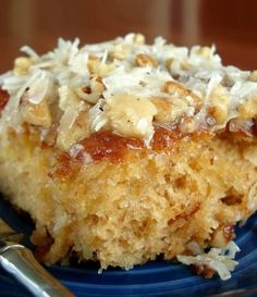 Do Nothing Cake | When a friend brought this to a church supper, EVERYONE insisted on getting the recipe. Very moist and delicious.