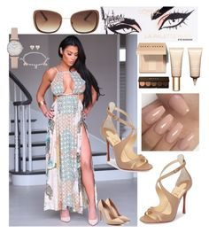 """In the nude!!"" by ericjen8685 on Polyvore featuring Christian Louboutin, Lucky Brand, Alexander McQueen, Bobbi Brown Cosmetics, Clarins, Becca and Emporio Armani"