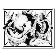 ZNDC Studio's Main Octopus Postcard