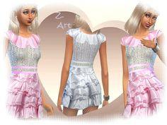 The Sims Resource: First Dance dress by Zuckerschnute20 • Sims 4 Downloads