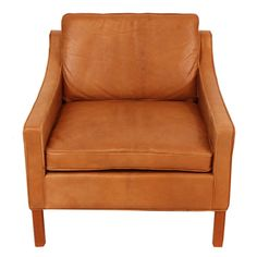 Mid-Century Leather Arm Chair. Find me one of these and my living room will almost be complete.