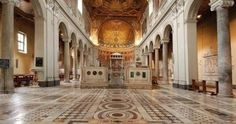 Great website of historical buildings in Rome.  This is of the Basilica of San Clemente.