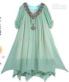 Gorgeous Color, chiffon maternity dress