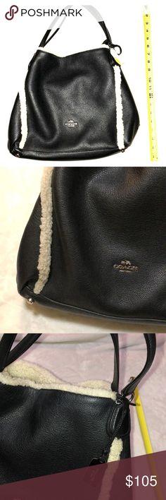 d802a46670 Sale💕Sherpa Coach purse 👜 Excellent condition no flaws‼ 100% Authentic  Pebble