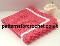 Free baby crochet pattern baby wash cloth usa