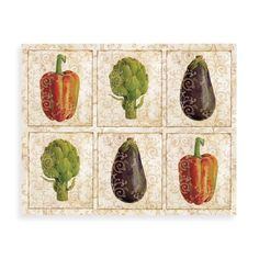 CounterArt® Glass 12' x 15' Cutting Board - Gourmet Vegetables Design - Bed Bath & Beyond