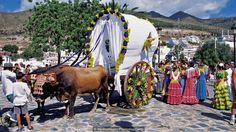 The romeria is an important tradition in Spain (Credit: Credit: Medioimages/Photodisc/Getty)