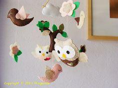 Baby Crib Mobile  Baby Nursery Mobile  Hanging Mobile  by hingmade, $90.00