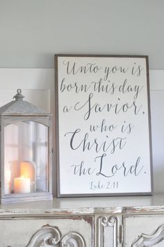 Unto You is Born This Day sign by BetweenYouAndMeSigns on Etsy