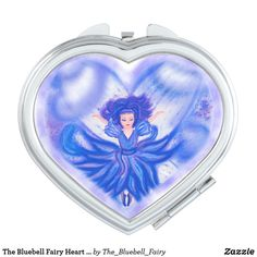 The Bluebell Fairy Heart Compact Makeup Mirror Flower Girl Gifts, Girly Gifts, Personalized Wedding Gifts, On Your Wedding Day, Compact, Fairy, Mirror, Heart, Makeup