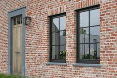Steel Windows, Black Windows, Future House, My House, Brick Siding, Victoria House, Open Plan Kitchen Living Room, Beauvais, Diy Casa