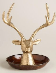 Antique Gold Stag Head Jewelry Stand http://rstyle.me/n/tq8g6bh9c7