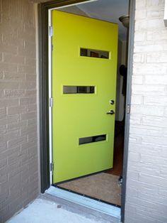 Crestview Doors - Jonathan and Laura's Vintage Modern Redo with a mid-century modern Crestview Door
